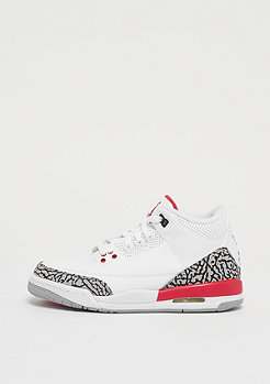 JORDAN Air Jordan 3 Retro Katrina white/fire red-cement grey-black