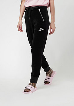 NIKE Pant Velour black/metallic silver