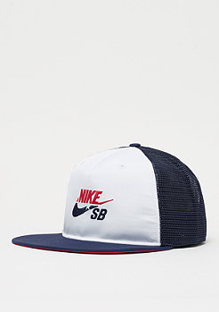 NIKE SB Trucker white/midnight navy/university red