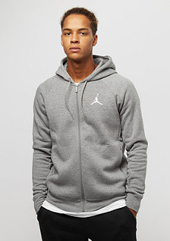 JORDAN Flight Fleece FZ carbon heather/white