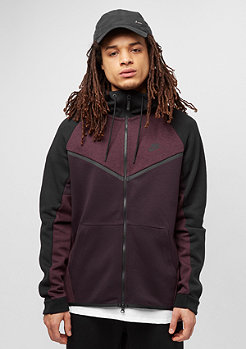 NIKE Tech Fleece WR FZ CB port wine/heather/black