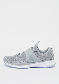 JORDAN Trainer 2 Flyknit wol grey/metallic silver/white