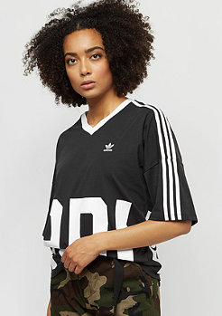 adidas Tee V-Neck black/white