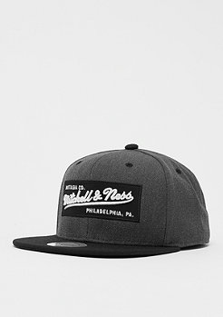 Mitchell & Ness Box Logo charcoal heather/black