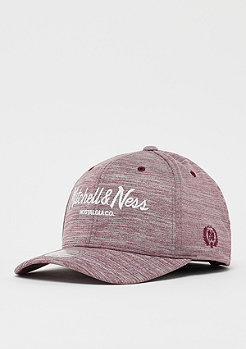 Mitchell & Ness Black & White Melange 110 burgundy melange