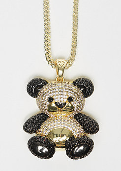 King Ice Two-Tone CZ Panda gold