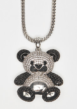 King Ice Kette Two-Tone CZ Panda silber