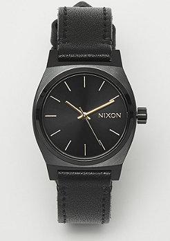 Nixon Medium Time Teller Leather all black