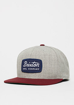 Brixton Jolt light heather grey/burgundy