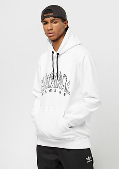 Criminal Damage Hood Blaze white/black