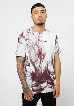 Criminal Damage Tee Haze white/burgundy