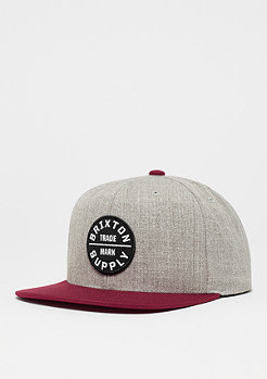 Brixton Oath III light heather grey/burgundy/white
