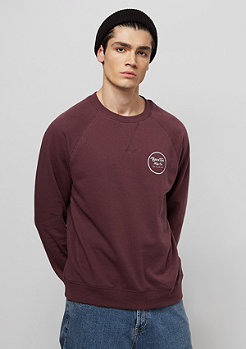 Brixton Wheeler Fleece maroon