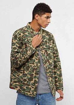 Brixton Cass olive camouflage