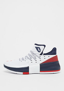 adidas Lillard 3 footwear white/collegiate navy/scarlet