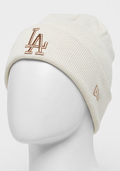 New Era Essential Cuff Knit MLB Los Angeles Dodgers stone/gold