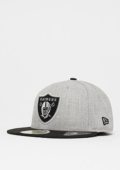New Era 59Fifty Reflective Heather NFL Oakland Raiders heather grey