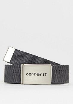 Carhartt WIP Clip Belt Chrome asphalt