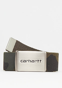 Carhartt WIP Clip Belt Chrome camo combat green