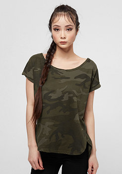 Urban Classics Back Shaped olive camo