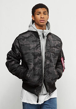 Alpha Industries MA-1 D-Tec black camo