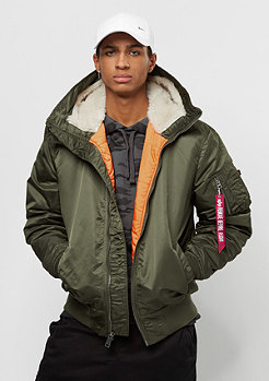 Alpha Industries MA-1 Hooded dark green