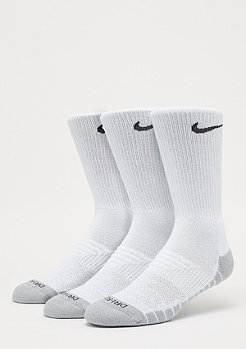 NIKE Dry Cushion Crew Training 3er white/wolf grey/black