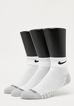NIKE Dry Lightweight Quarter Training 3er white/black
