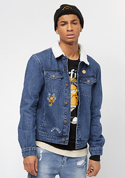 Cayler & Sons ALLDD Not Happy Garfield Trucker Jacket mid blue