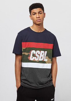 Cayler & Sons Blocked Tee navy/heather grey
