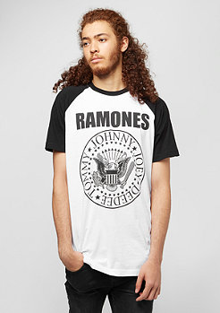 MERCHCODE Ramones Circle Raglan white/black