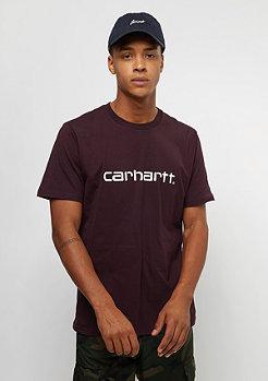 Carhartt WIP Script damson/white