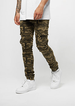 Sixth June Denim With Elastic Hem Cargo camo
