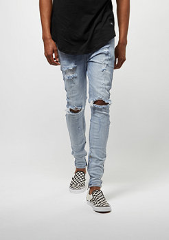 Sixth June Skinny Washed Denim Destroyed blue