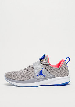 JORDAN Trainer 2 Flyknit atmosphere grey/racer blue/racer pink
