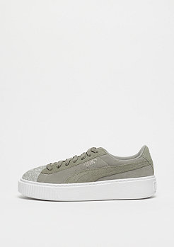 Puma Suede Platform Pebble rock ridge-white