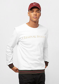 Criminal Damage Sweat Aldo white/gold