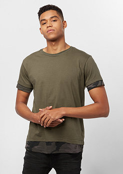 Urban Classics Long Shaped Camo Inset olive/dark camo