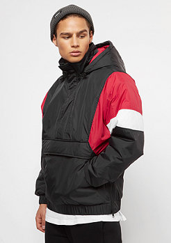 Urban Classics 3 Tone Pull Over black/red/white