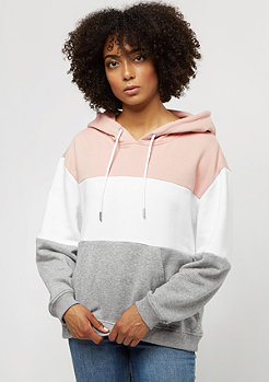 Urban Classics Oversized 3-Tone light rose/white/grey