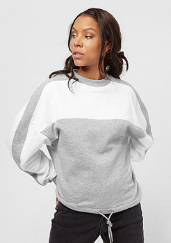 Urban Classics Oversized 2-Tone Stripe Crew grey/white