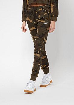 SNIPES Pantalon molletonné Basic camouflage