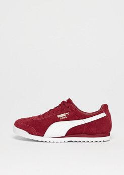 Puma Roma Suede red dahlia-white-team gold-amazon green