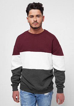Urban Classics Col rond oversize 3 tons port/white/anthracite