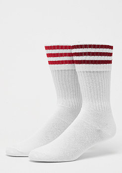 adidas Solid Crew Socks 2er white/rust red/scarlet