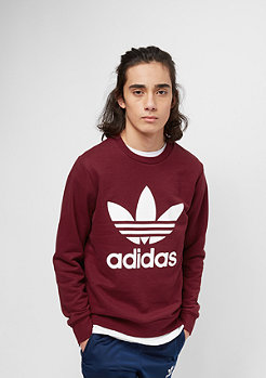 adidas Junior Trefoil Crew collegiate burgundy/white