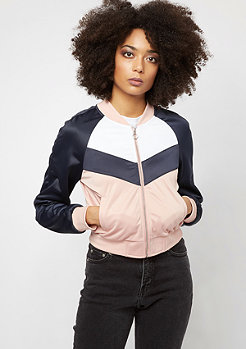 Urban Classics Short Raglan Track light rose/navy/white