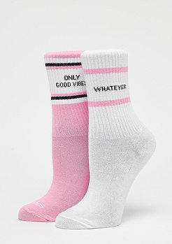 SNIPES Claim Socks white/pink