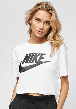 NIKE Essential Crop white/black