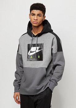 NIKE FLC PO carbon heather/black/dark grey/white